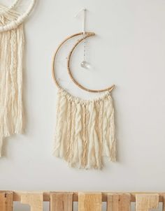 Shop Room Decor at American Eagle to find all the essential decorations for your bedroom or dorm room! Browse tapestries, wall hangings, room decor, lamps, and more today! Dream Catcher White, Dream Catchers, Cresent Moon, Moon Dreamcatcher, Wall Accessories, Crystal Wall, Mosaic Garden, Mens Outfitters, Textiles