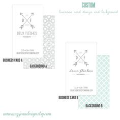 Business card template for Vintage Arrow Design by AmyJeanDesign, $18.00