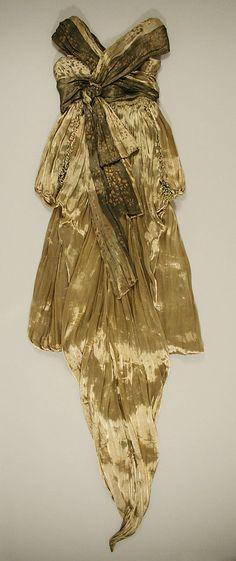 Evening dress, back view Hickson Inc. Date: ca. 1913 Culture: American Medium: silk, metal