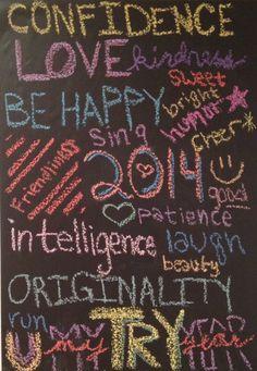 Chalkboard paint / wall