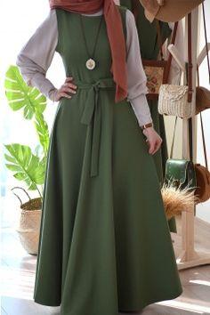 Modest Fashion Hijab, Casual Hijab Outfit, Hijab Dress, Casual Dresses, Fashion Dresses, Moslem Fashion, Muslim Women Fashion, Hijab Style, Islamic Clothing