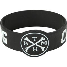 Bring Me The Horizon Crooked Young Rubber Bracelet | Hot Topic ($25) ❤ liked on Polyvore featuring jewelry, bracelets, accessories, band merch, rubber bangles, rubber jewelry, rubber bracelet, bracelet bangle and bracelet jewelry