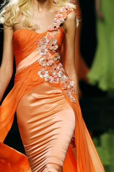 Pretty Orange Satin