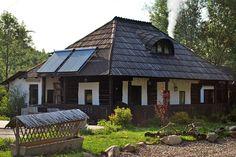 modele de case din Bucovina Outdoor Furniture Plans, Village Houses, Wooden House, Design Case, Home Fashion, Traditional House, Old Houses, Homesteading, House Plans