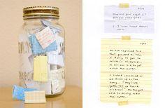 Things in a jar.  (kids sayings in a jar)