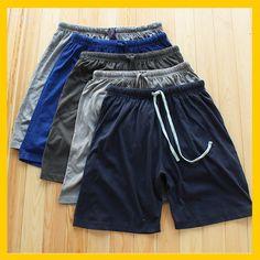外贸男士大码短裤 夏季纯棉男士休闲短裤 中老年家居运动短裤宽松