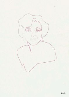 One line drawing by Quibe