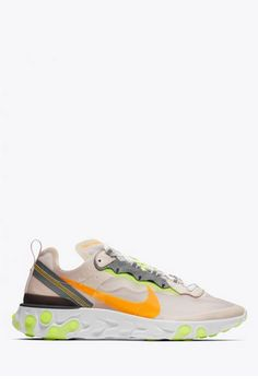 newest collection 26f7e d2f03 Nike React Element 87 In Light BrownLaser Orange-Volt Glow okini