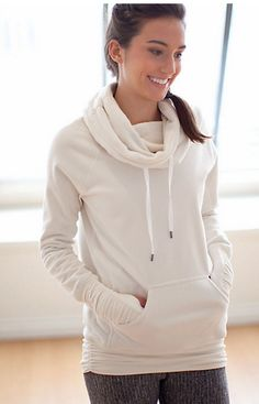 Lululemon Don't Hurry Be Happy Pullover in Polar Cream... b/c we all need a cute hand pouch!