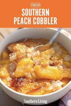 With 9 ingredients and 4 steps, this Southern peach cobbler is our easiest cobbler dessert ever. Southern Desserts, Köstliche Desserts, Southern Recipes, Southern Food, Best Peach Cobbler, Southern Peach Cobbler Recipe With Canned Peaches, Soul Food Peach Cobbler Recipe, Peach Cobbler Recipes, Classic Peach Cobbler Recipe