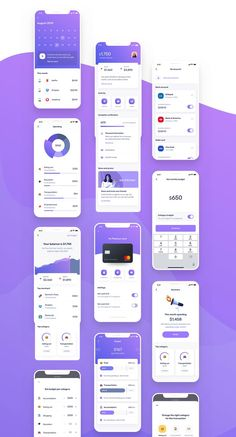 Finance Mobile UI UX - UI Kits - Ideas of UI Kits - Uluwatu is an essential toolkit for anyone designing financial mobile app. Using this UI kit you can design mobile app to track spending set budget personal wallet and many more. Mobile Ui Design, Ui Ux Design, Interface Design, Games Design, Mobile Application Design, Design Page, Flat Design, Design Layouts, Desing App