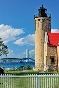Old Mackinac Point Lighthouse, Mackinaw City, MI. I have been to the top of this lighthouse.