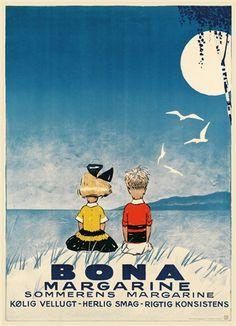 Plakat, Bona Margarine 1929, inkl. indramning