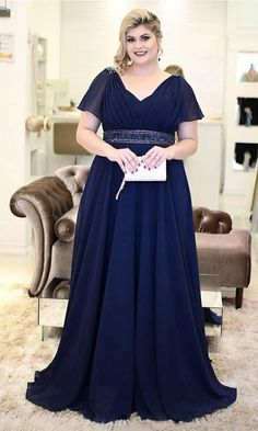 Short Sleeves Dark Navy Chiffon Mother of the Bride Dress with Beading Belt, Chiffon Formal Evening Dresses for Moms Best Formal Dresses, Formal Evening Dresses, Short Dresses, Prom Dresses, Wedding Dresses, Dress Formal, Gown Wedding, Classy Evening Gowns, Georgia May Jagger