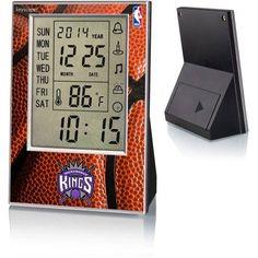 Sacramento Kings Basketball Design Digital Clock by Keyscaper, Multicolor