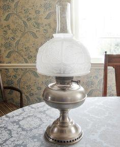 1905 antique rayo oil kerosene lamp nickle plated w white milk glass antique rayo 1905 nickle plated oil kerosene lamp center draft 21 total aloadofball Gallery