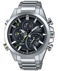 G-Shock Men's Edifice Solar Stainless Steel Bracelet Watch 48mm