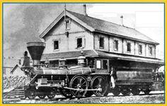 BROCKVILLE, Ontario - Brockville Ottawa-Railway train station -1860s
