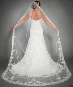 "Item Type: Bridal Veils Veils Layers: One-Layer Veils Edge Style: Lace Edge Material: Polyester Color: White/Ivory Length: 98.5"" - Processing time vary - Once shipped,can take 35 – 43 days - Some excl"