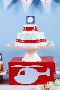 Helicopter Birthday Party Ideas - Cake