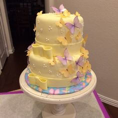 Butterfly Baby Shower Cake By Susan Collins Ward, Whisk Confections,  McKinney, TX