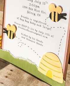 Bumble Bee Theme Baby Shower Invitation by EmbellishedPaper, $2.50