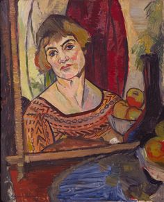 Suzanne Valadon (French, Self-Portrait, Valadon modeled for Toulouse-Lautrec (who gave her painting lessons) and Renoir, with whom she had an affair. Renoir, Maurice Utrillo, L'art Du Portrait, Female Painters, Henri De Toulouse Lautrec, Ouvrages D'art, Post Impressionism, French Artists, Famous Artists