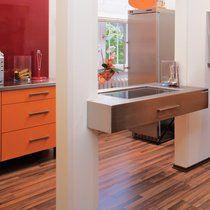 Küche, orange, elegant, rot