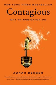 """Contagious: Why Things Catch On: Jonah Berger. What  are you reading this summer? We're really enjoying """"Contagious"""" by Jonah Berger - the ideas that catch on are really the ones where people are """"listening"""" to their peers Good Books, Books To Read, My Books, Stumbling On Happiness, Psy Gangnam Style, Startup, Reading Lists, Reading Nook, So Little Time"""