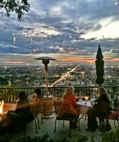 The view from Orange Hill Restaurant...
