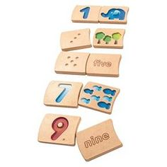 This wooden tile set makes learning numbers as easy as The two-sided tiles feature number colorful pictures and words that help children count, match, spell and trace the numbers. Dimension : cm x x x x Learning Toys For Toddlers, Educational Toys For Kids, Activity Toys, Preschool Activities, Kids Toys Online, Numbers 1 10, Plan Toys, Learning Numbers, Bath Toys