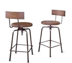 Dale Black Metal Solid Wood Back Restaurant Swivel Bar Stools with Padded Seat - Attractive Dale black metal swivel restaurant bar stools with paddu2026  sc 1 st  Pinterest & Dale Black Metal Solid Wood Back Restaurant Swivel Bar Stools with ... islam-shia.org