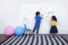 GIANT COLOURING IN WALL POSTER FROM THE KID WHO