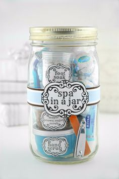 Best DIY Gifts for Girls - Spa In A Jar - Cute Crafts and DIY Projects that Make Cool DYI Gift Ideas for Young and Older Girls, Teens and Teenagers - Awesome Room and Home Decor for Bedroom, Fashion, Jewelry and Hair Accessories - Cheap Craft Projects To Make For a Girl for Christmas Presents http://diyjoy.com/diy-gifts-for-girls
