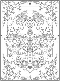 Creative Haven Incredible Insect Designs Coloring Book - Dover Publications