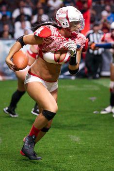 Ladies Football League, Female Football Player, American Football League, Football Girls, Nfl Football, Rugby Girls, Lfl Players, Lingerie Football, Legends Football