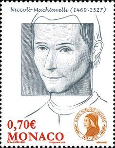 Literary Stamps: Machiavelli, Niccolò (1469 – 1527