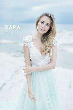 Wedding dress ANSEL, mint wedding dress, beach wedding dress, bohemian wedding dress, mint, grey , powder, body