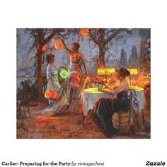 Carlier: Preparing for the Party Canvas Print