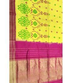 Yellow Handloom Pure Ikkat Silk Saree-----  For details of this saree click on this link-----  http://luxurionworld.com/Ikat-Sarees-andhra-Pradesh/LWIKSNR132_Yellow_Handloom_Ikat_silk_Saree.html