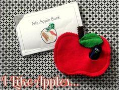 Felt Apple Tutorial {cute preschool craft}