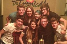 joey. tanya. smosh. alfie. zoella. tyler. jim. i don't know the girl with the green hair haha