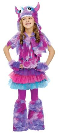 Polka Dot Monster Girls Costume - Halloween Costumes