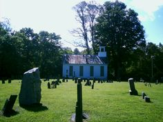 Bantam & Elk Lick, OH (Clermont County) - A pic of the Old Bethel Methodist Church from the middle of the cemetery.