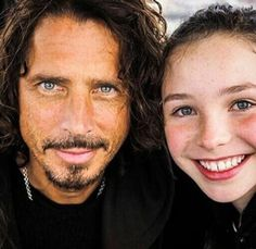 Chris with daughter Lily Chris Cornell, Most Beautiful Man, Beautiful People, Say Hello To Heaven, Seattle, Daniel Johns, Smiling Man, Pearl Jam, Bearded Men