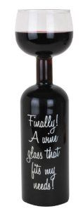 Big Mouth Toys #Ultimate #Wine Bottle #Glass  $11.93 Save 25% (Retail: $15.99) Large Wine Glass, Wine Gifts, Bartender, Valentine Day Gifts, Red Wine, Vodka Bottle, Alcoholic Drinks, Cocktails, Perfume Bottles