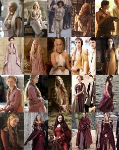 costumes of the ladies of Game of Thrones Best Series, Best Tv Shows, Movies And Tv Shows, Serie Du Moment, Got Costumes, Game Of Thrones Costumes, My Sun And Stars, Mother Of Dragons, Valar Morghulis