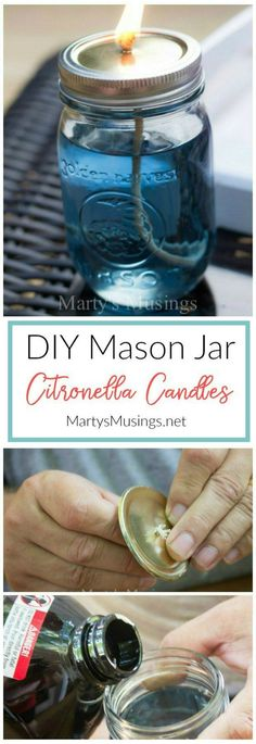 Mosquitoes drive you crazy in the summer? I'm here to show you how to make citronella candles that are easy and inexpensive, the perfect DIY project to chase away those pesky bugs!