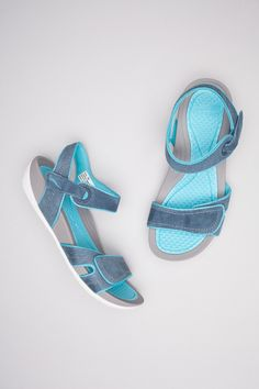 Kami Navy Aqua Suede from the Tisbury collection