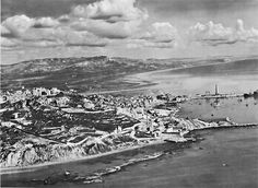 Licata, Sicily, one of three landing sites for the US Seventh Army, 10 July 1943. Note lighthouse on spit of land.